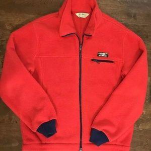 Vintage LL Bean Women's red jacket polar fleece